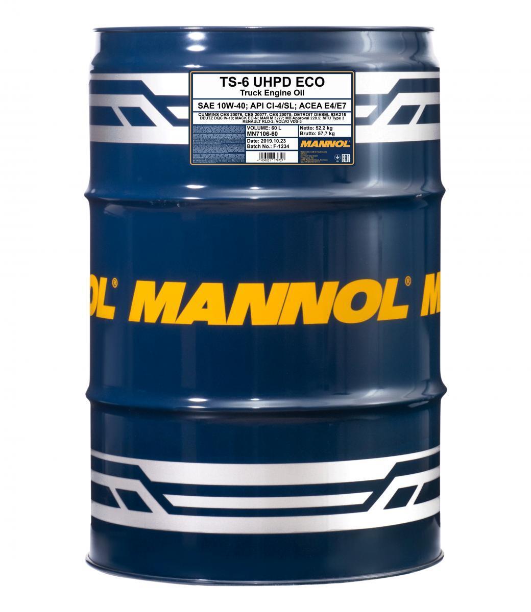MN7106-60 MANNOL TS-6, UHPD Eco 10W-40, 10W-40, 60l Motoröl MN7106-60 günstig kaufen