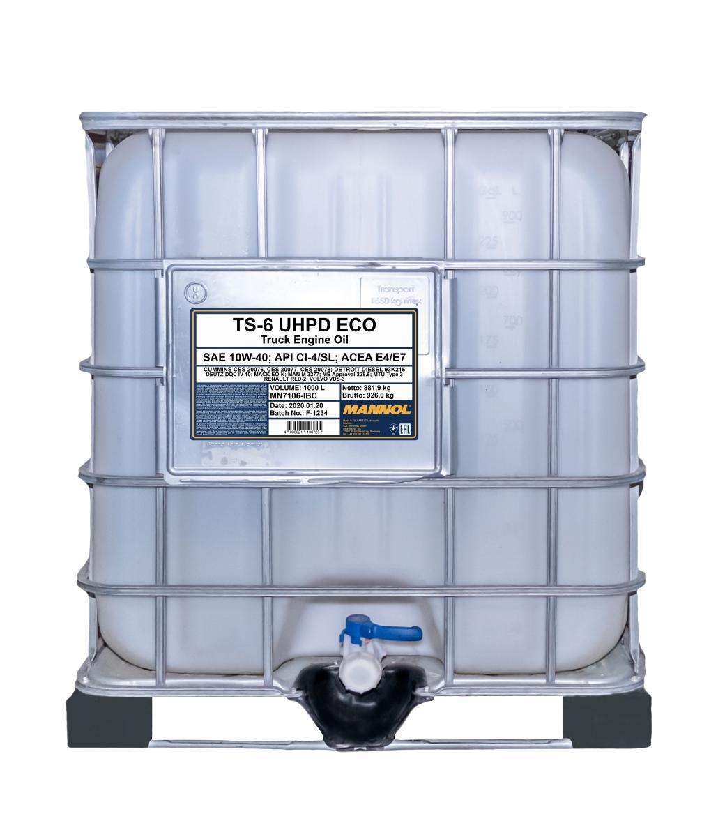 MN7106-IBC MANNOL TS-6, UHPD Eco 10W-40, 10W-40, 1000l Motoröl MN7106-IBC günstig kaufen