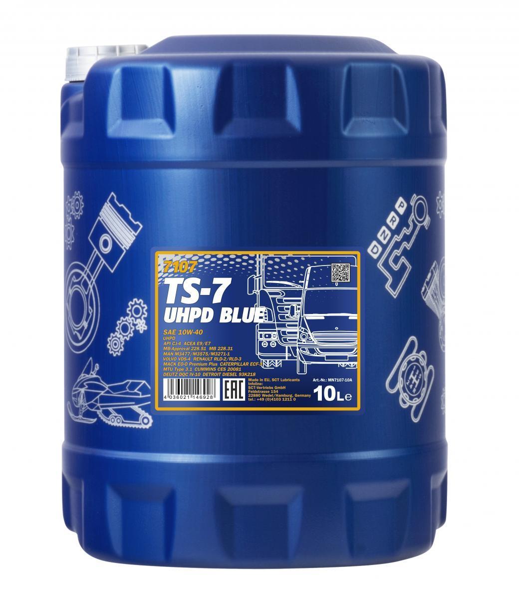 MN7107-10 MANNOL TS-7, UHPD Blue 10W-40, 10l Motoröl MN7107-10 günstig kaufen