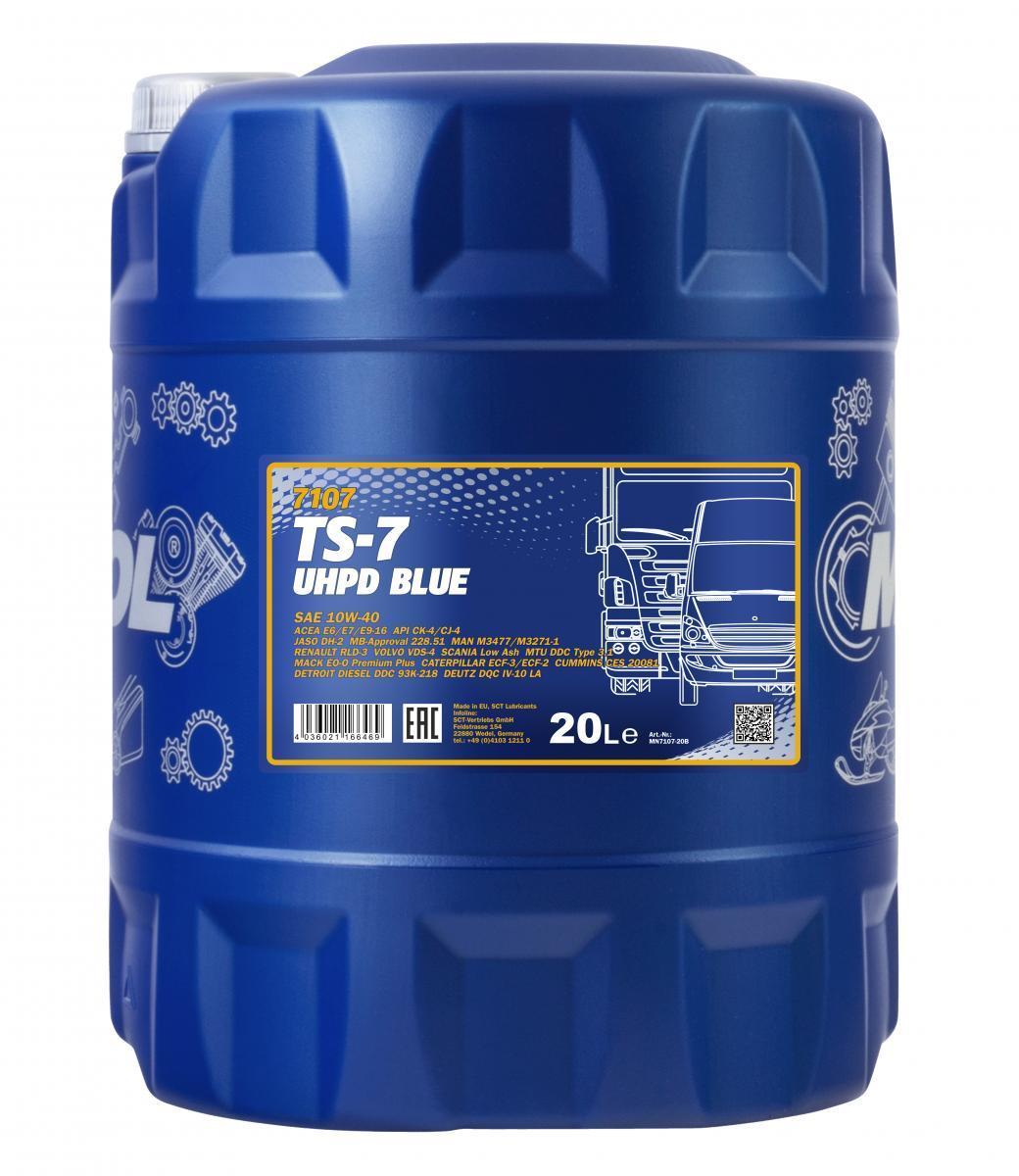 MN7107-20 MANNOL TS-7, UHPD Blue 10W-40, 20l Motoröl MN7107-20 günstig kaufen