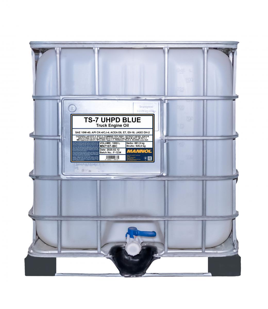 MN7107-IBC MANNOL TS-7, UHPD Blue 10W-40, 10W-40, 1000l Motoröl MN7107-IBC günstig kaufen