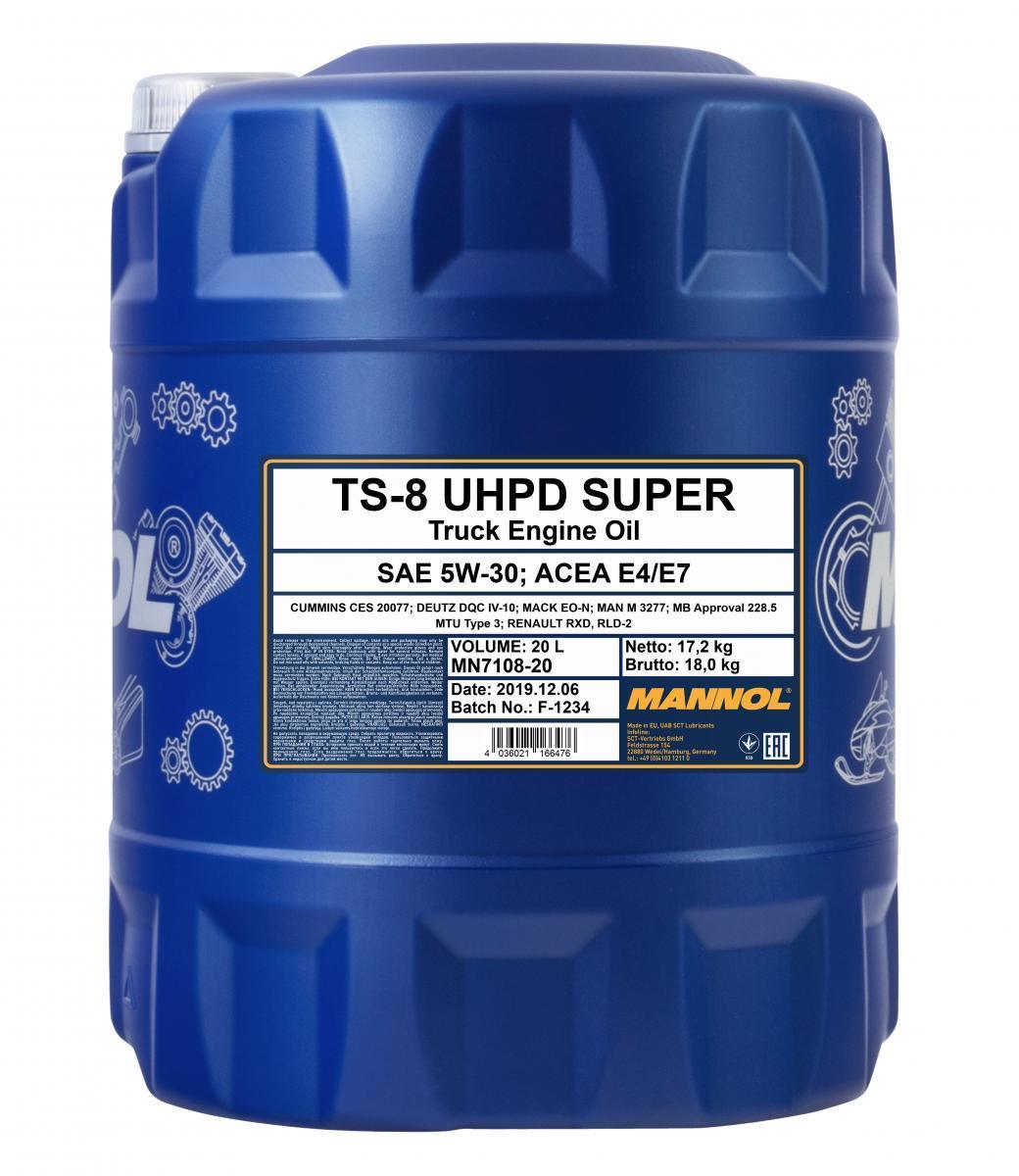 MN7108-20 MANNOL TS-8, UHPD Super 5W-30, 20l Motoröl MN7108-20 günstig kaufen