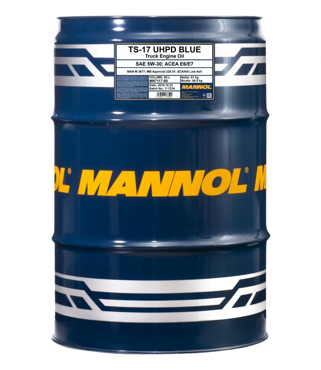 MN7117-60 MANNOL TS-17, UHPD Blue 5W-30, 5W-30, 60l Motoröl MN7117-60 günstig kaufen