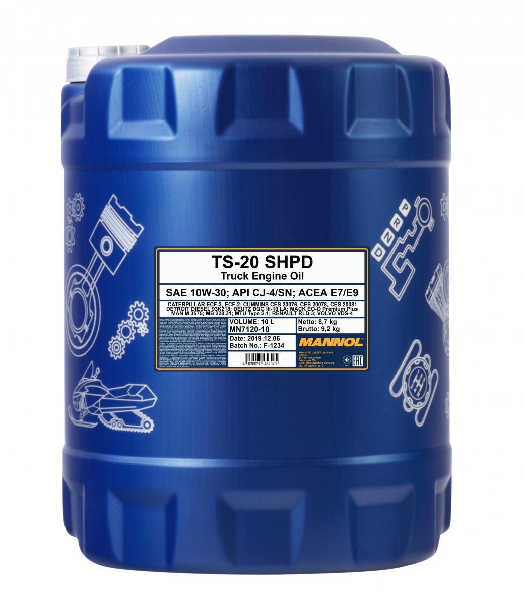 MN7120-10 MANNOL TS-20, SHPD 10W-30, 10W-30, 10l Motoröl MN7120-10 günstig kaufen