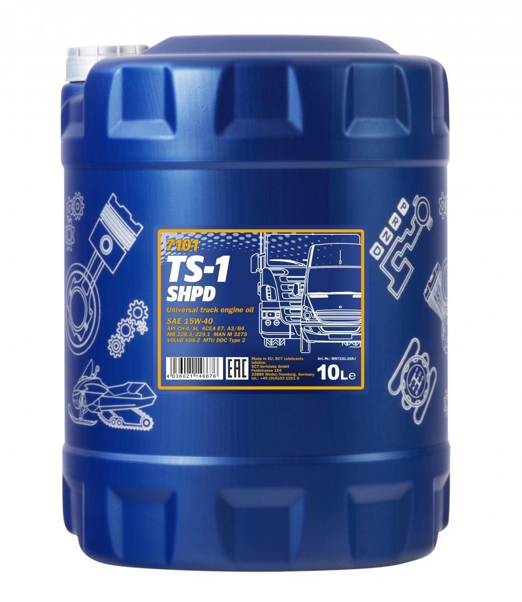 MN7101-10 MANNOL TS-1, SHPD 15W-40, 10l, Mineralöl Motoröl MN7101-10 günstig kaufen
