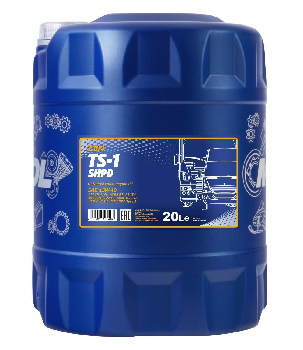 MN7101-20 MANNOL TS-1, SHPD 15W-40, 20l, Mineralöl Motoröl MN7101-20 günstig kaufen