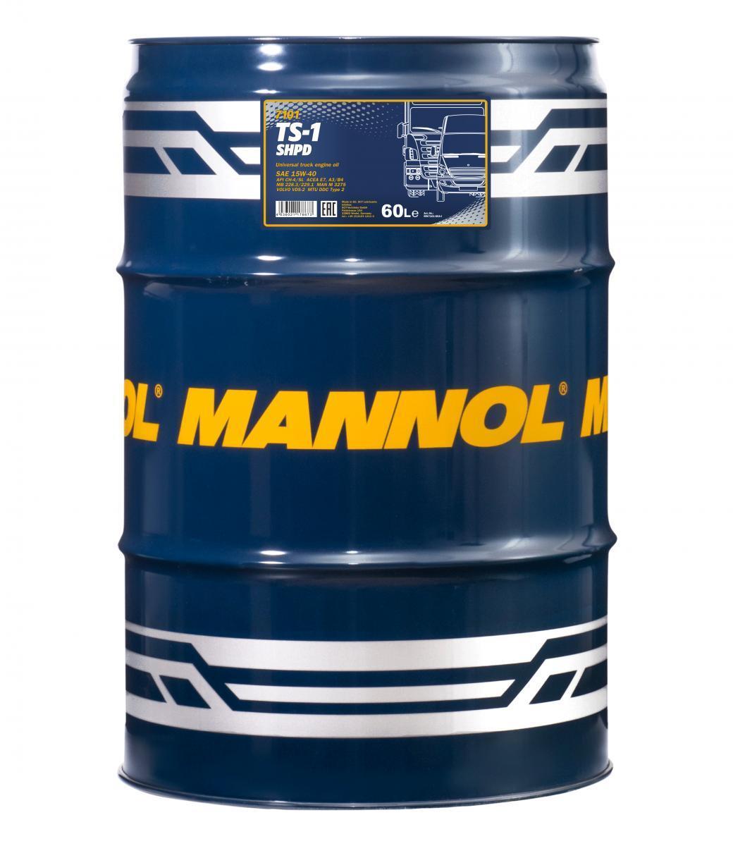 MN7101-60 MANNOL TS-1, SHPD 15W-40, 15W-40, 60l, Mineralöl Motoröl MN7101-60 günstig kaufen