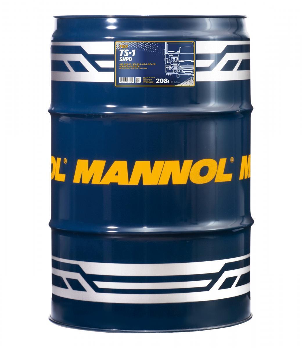 MN7101-DR MANNOL TS-1, SHPD 15W-40, 15W-40, 208l, Mineralöl Motoröl MN7101-DR günstig kaufen