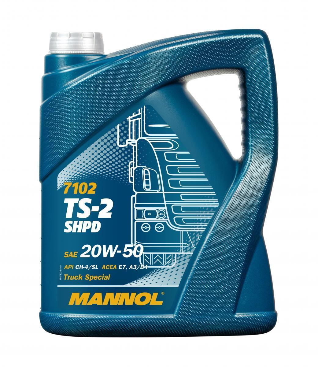 MN7102-5 MANNOL TS-2, SHPD 20W-50, 5l, Mineralöl Motoröl MN7102-5 günstig kaufen