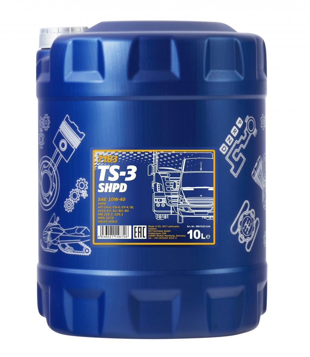 MN7103-10 MANNOL TS-3, SHPD 10W-40, 10l Motoröl MN7103-10 günstig kaufen