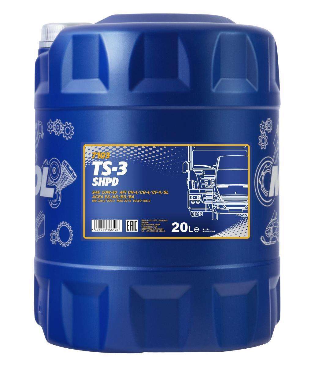 MN7103-20 MANNOL TS-3, SHPD 10W-40, 10W-40, 20l Motoröl MN7103-20 günstig kaufen