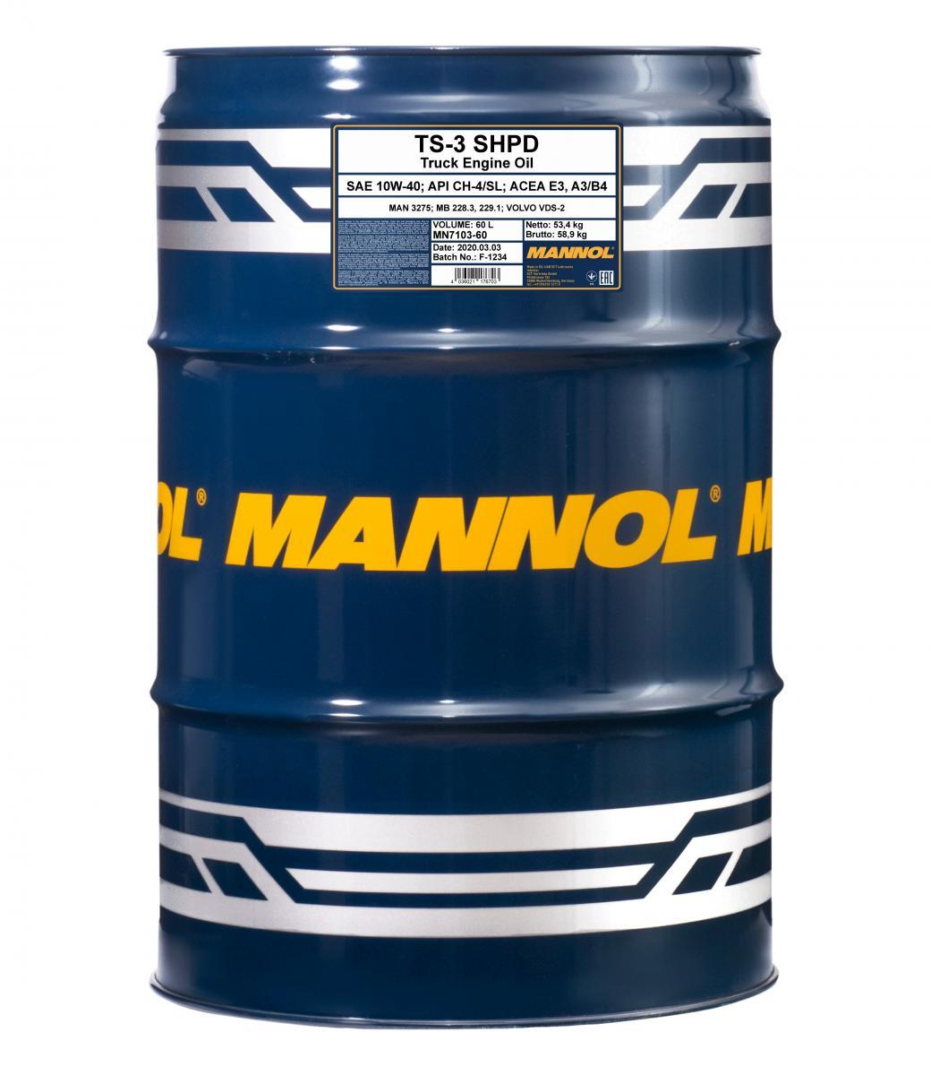 MN7103-60 MANNOL TS-3, SHPD 10W-40, 10W-40, 60l Motoröl MN7103-60 günstig kaufen