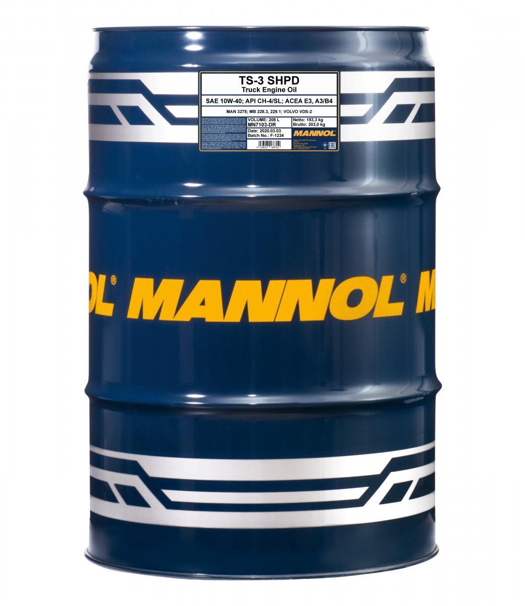 MN7103-DR MANNOL TS-3, SHPD 10W-40, 208l Motoröl MN7103-DR günstig kaufen