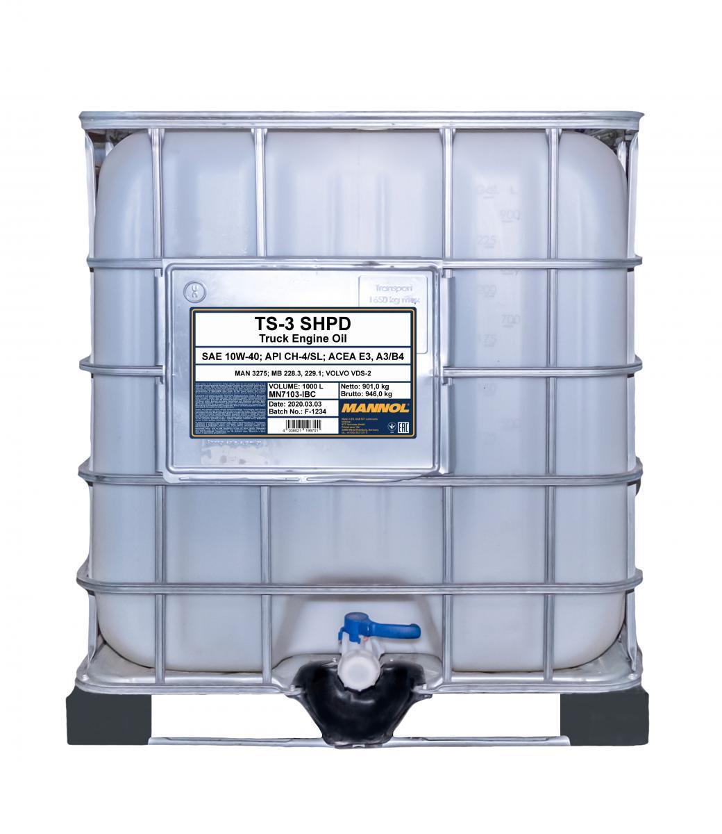 MN7103-IBC MANNOL TS-3, SHPD 10W-40, 10W-40, 1000l Motoröl MN7103-IBC günstig kaufen