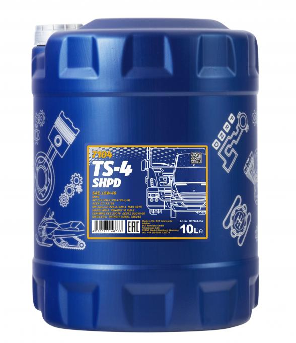 MN7104-10 MANNOL TS-4, SHPD 15W-40, 10l Motoröl MN7104-10 günstig kaufen