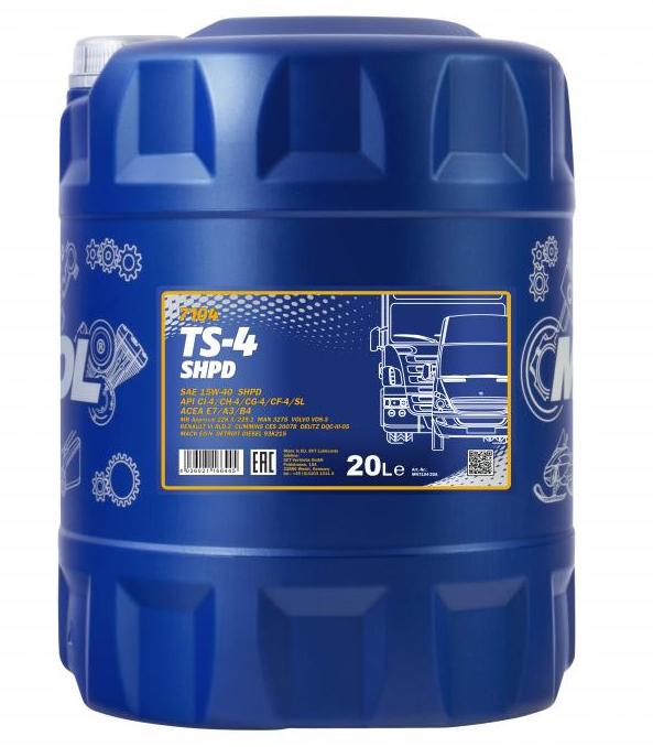 MN7104-20 MANNOL TS-4, SHPD 15W-40, 20l Motoröl MN7104-20 günstig kaufen