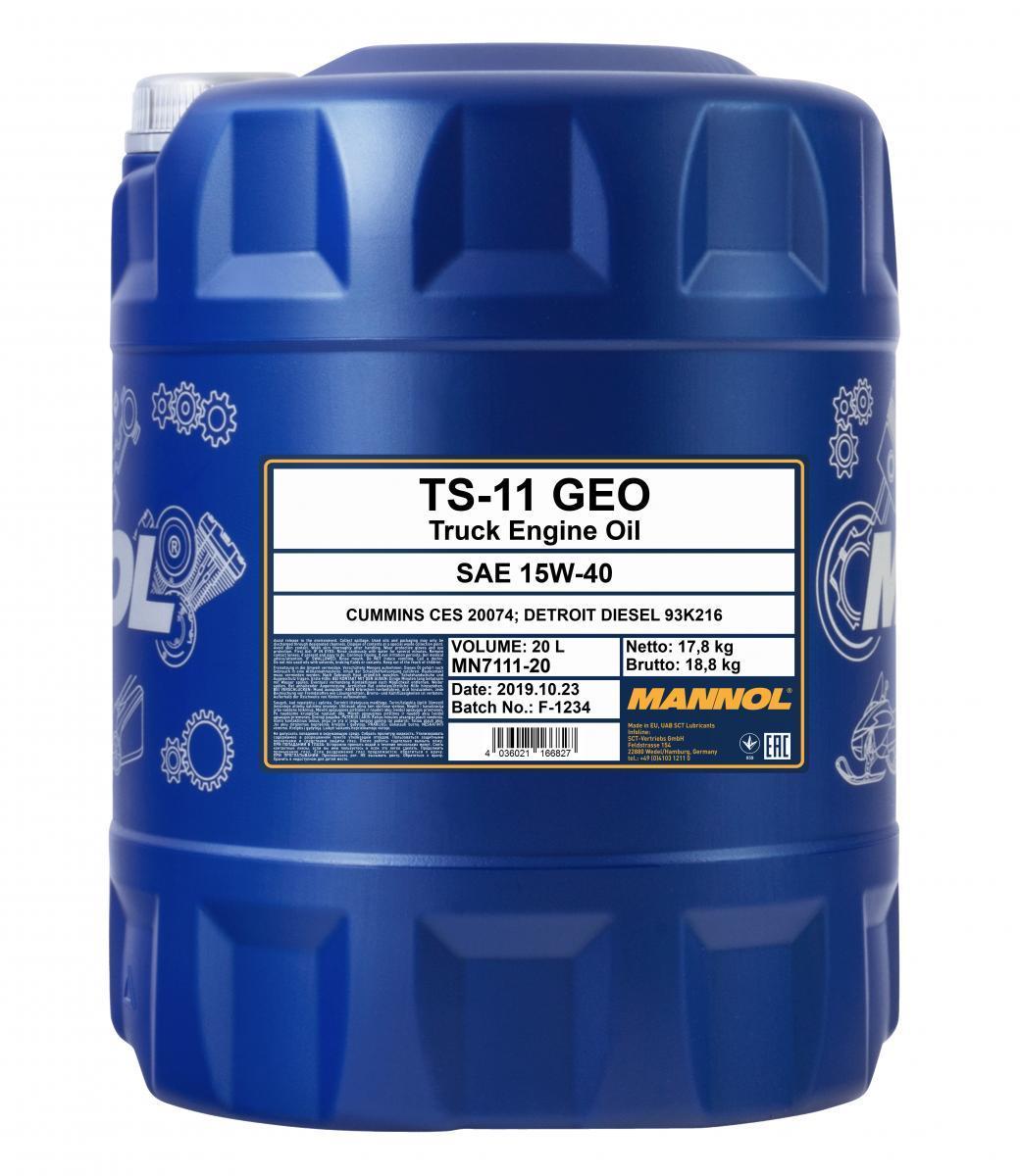 MN7111-20 MANNOL TS-11, SHPD Geo 15W-40, 20l Motoröl MN7111-20 günstig kaufen