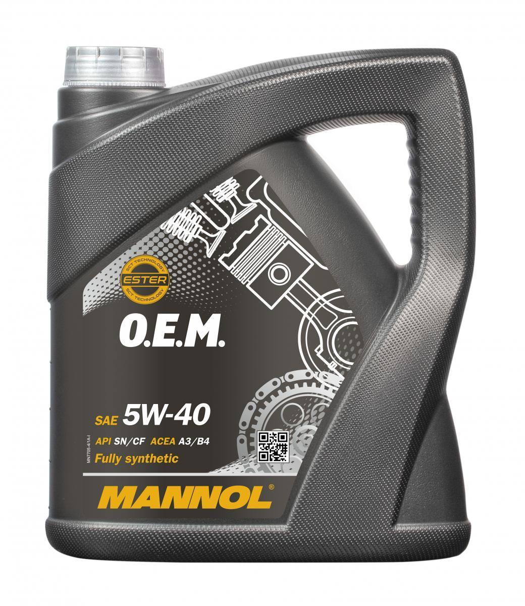 Achat de MN7705-4 MANNOL O.E.M. 5W-40, 4I, Huile synthétique Huile moteur MN7705-4 pas chères