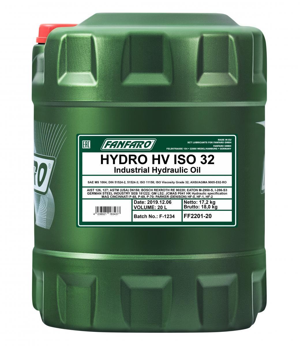 Koop FANFARO Hydraulische olie FF2201-20 vrachtwagen