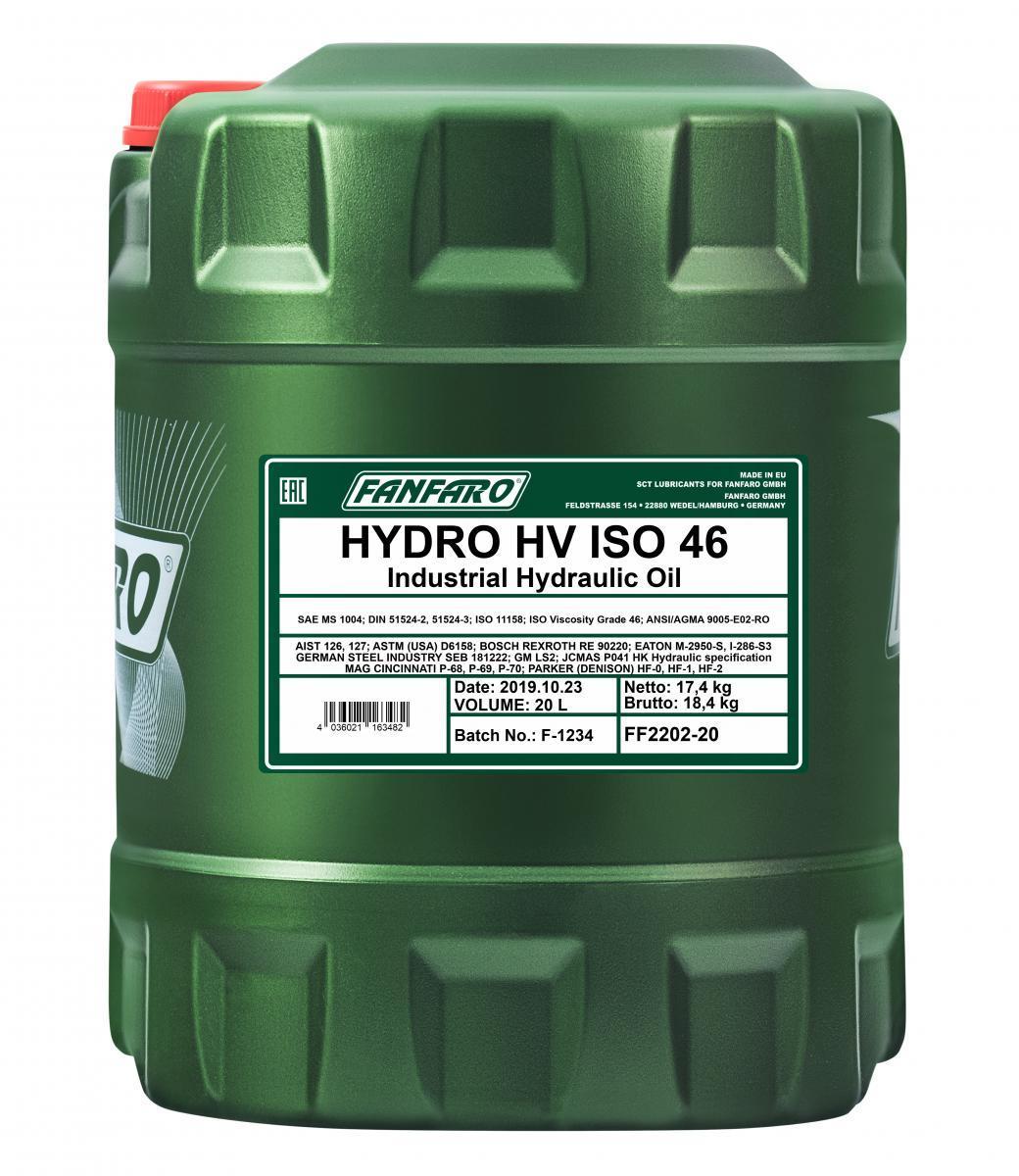 Iegādāties FANFARO Hidrauliskā eļļa FF2202-20 kravas auto
