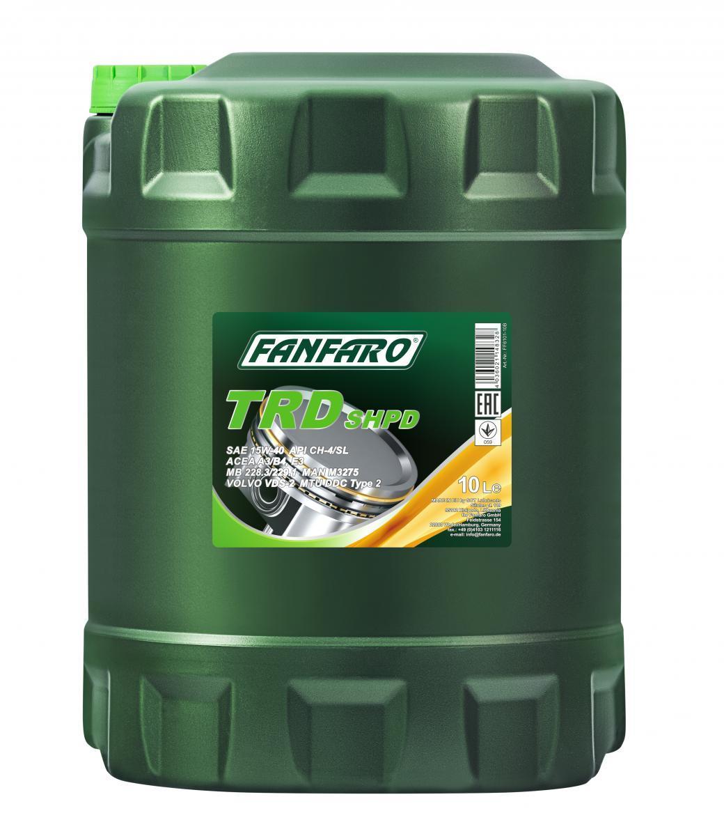 FF6101-10 FANFARO SHPD, TRD 15W-40, 10l, Mineralöl Motoröl FF6101-10 günstig kaufen