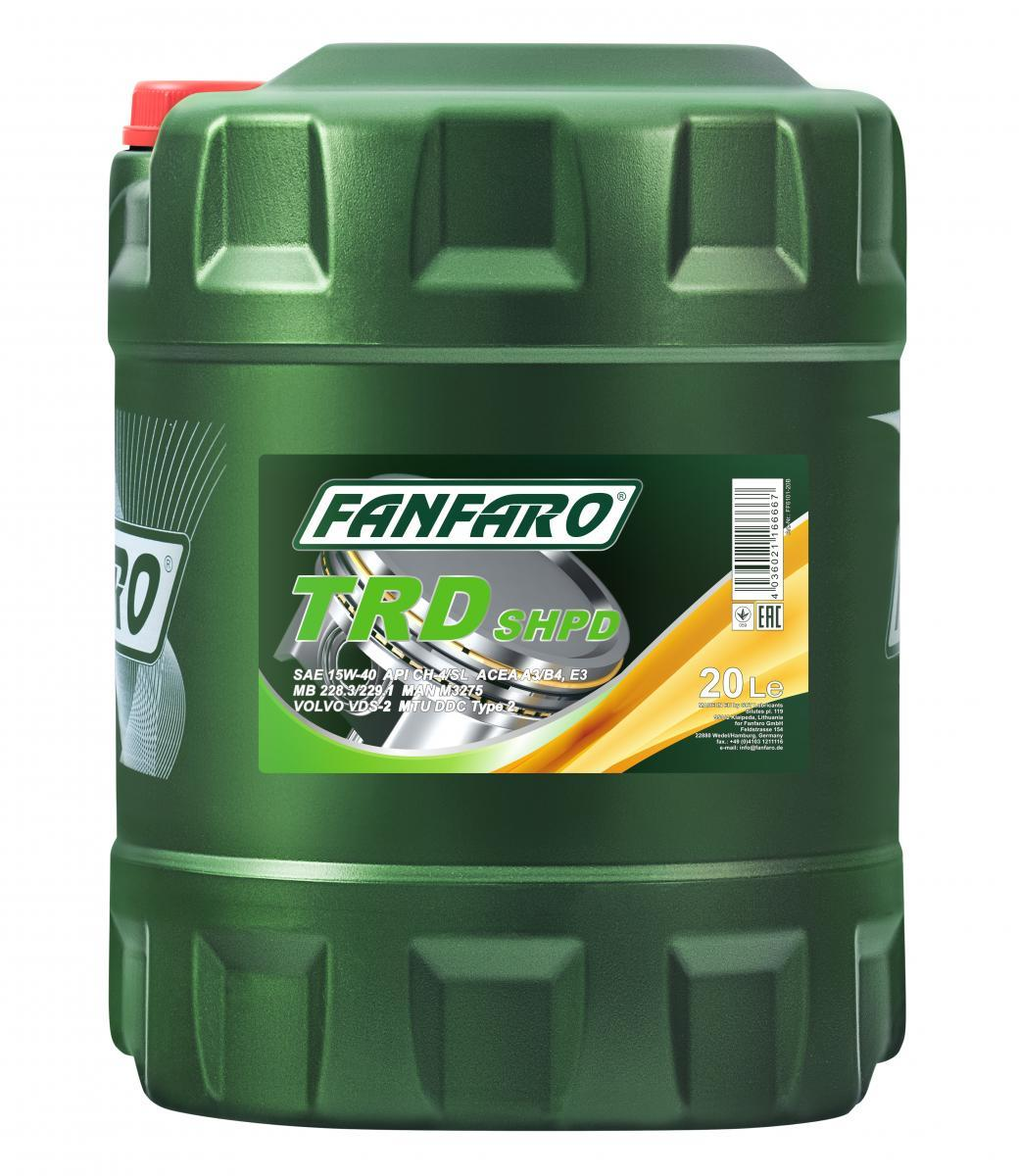 FF6101-20 FANFARO SHPD, TRD 15W-40, 20l, Mineralöl Motoröl FF6101-20 günstig kaufen