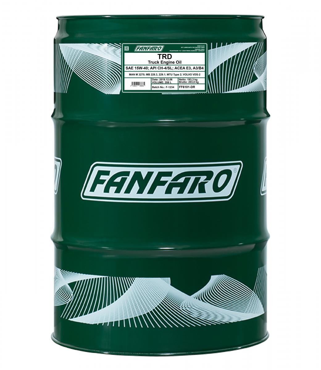 FF6101-DR FANFARO SHPD, TRD 15W-40, 208l, Mineralöl Motoröl FF6101-DR günstig kaufen