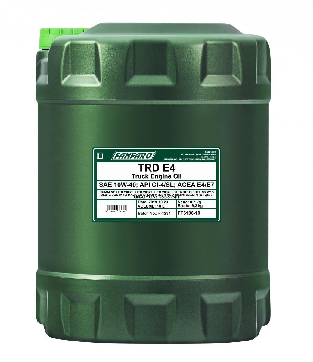 FF6106-10 FANFARO UHPD, TRD E4 10W-40, 10l, Synthetiköl Motoröl FF6106-10 günstig kaufen