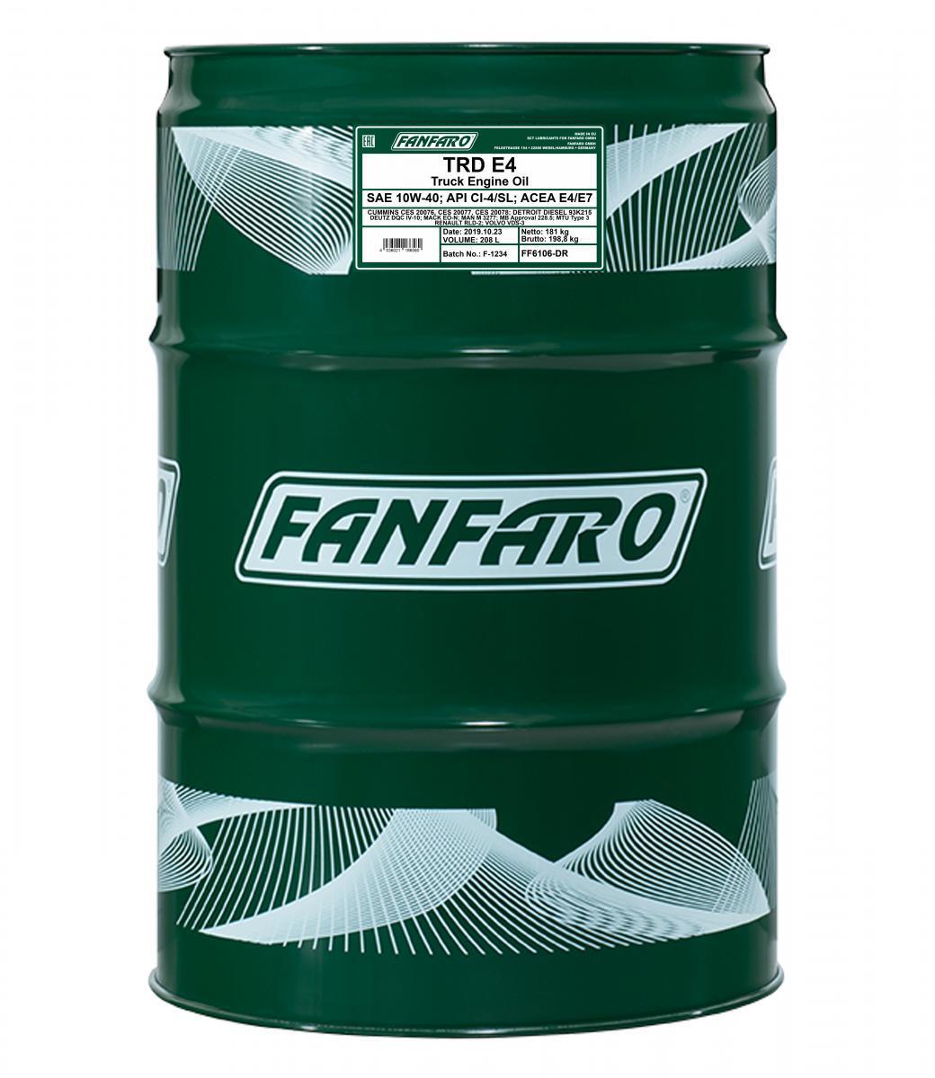 FF6106-DR FANFARO UHPD, TRD E4 10W-40, 10W-40, 208l, Synthetiköl Motoröl FF6106-DR günstig kaufen