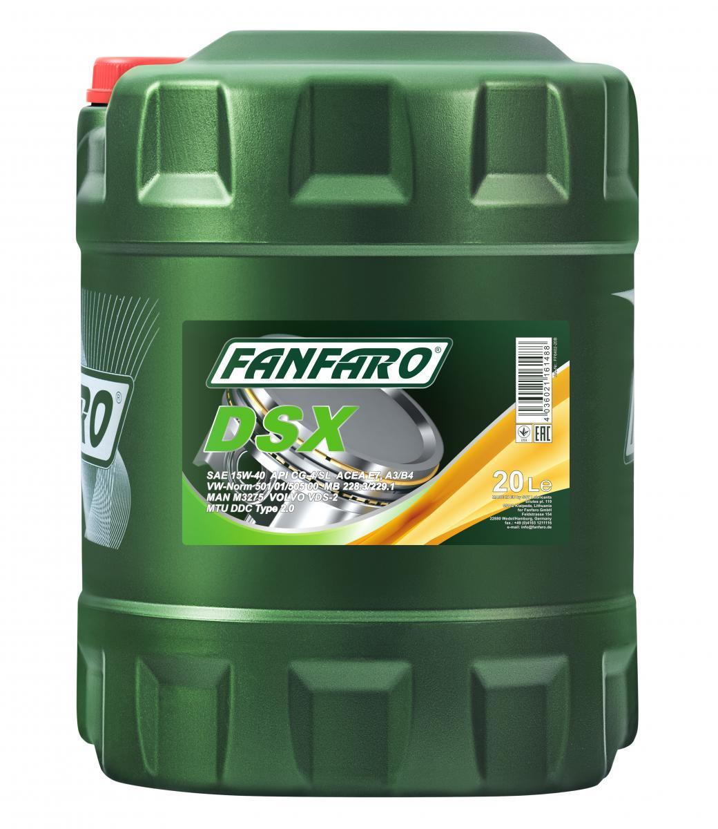 FF6402-20 FANFARO Master Line, DSX 15W-40, 20l, Mineralöl Motoröl FF6402-20 günstig kaufen