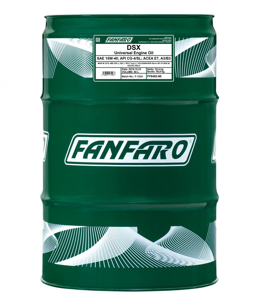FF6402-60 FANFARO Master Line, DSX 15W-40, 60l, Mineralöl Motoröl FF6402-60 günstig kaufen