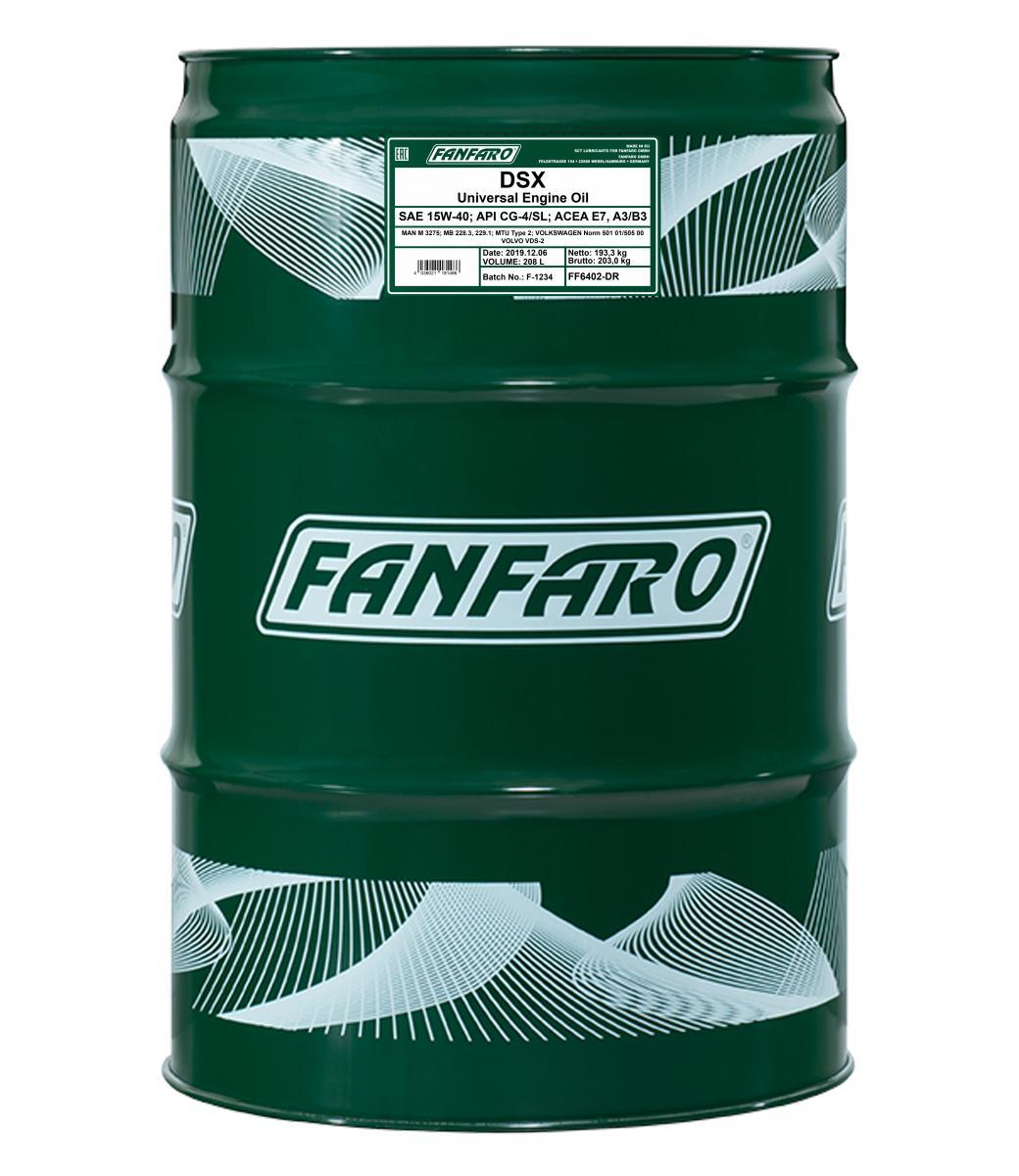 FF6402-DR FANFARO Master Line, DSX 15W-40, 208l, Mineralöl Motoröl FF6402-DR günstig kaufen
