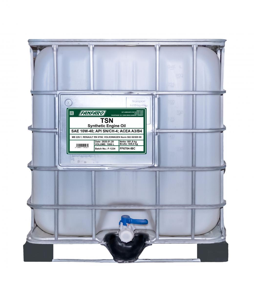 FF6704-IBC FANFARO Profi Line, TSN 10W-40, 1000l, Synthetiköl Motoröl FF6704-IBC günstig kaufen