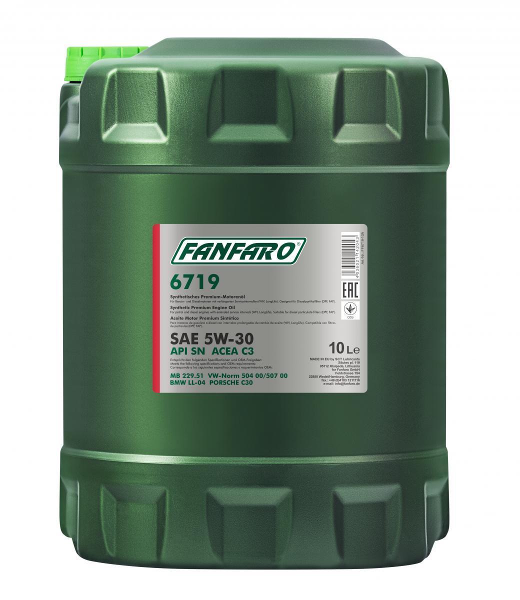 Køb FANFARO Motorolie FF6719-10 lastbiler