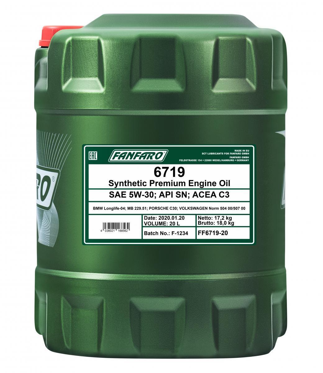 Moottoriöljyä FF6719-20