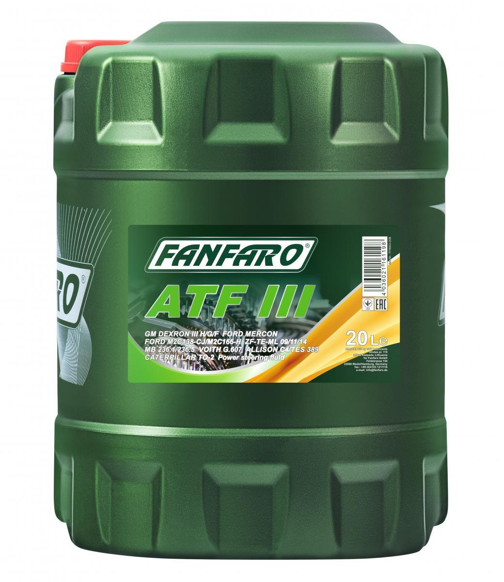 Масло за автоматична предавателна кутия FF8603-20 FANFARO — само нови детайли