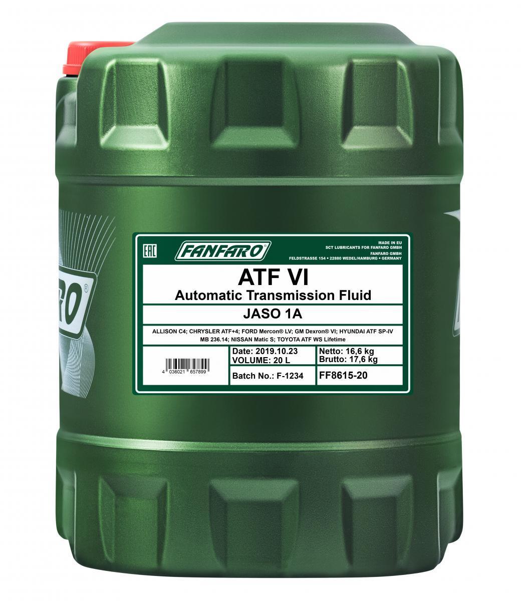 Масло за автоматична предавателна кутия FF8615-20 FANFARO — само нови детайли