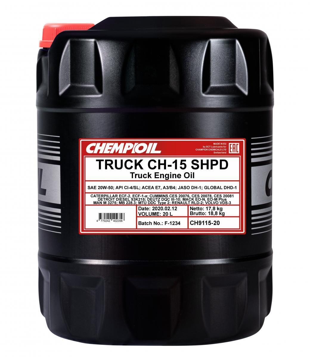 CH9115-20 CHEMPIOIL TRUCK, CH-15 SHPD 20W-50, 20l Motoröl CH9115-20 günstig kaufen