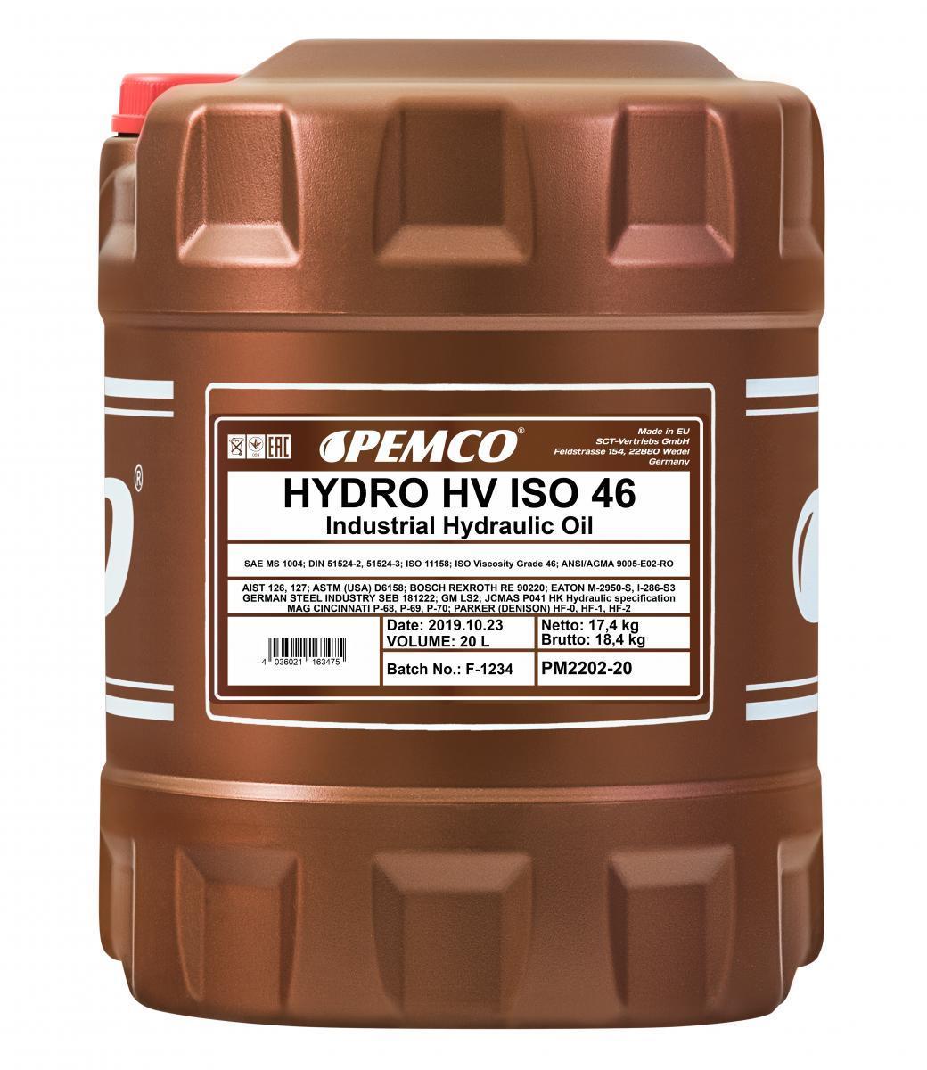 Hydrauliköl PM2202-20 im online PEMCO Teile Ausverkauf
