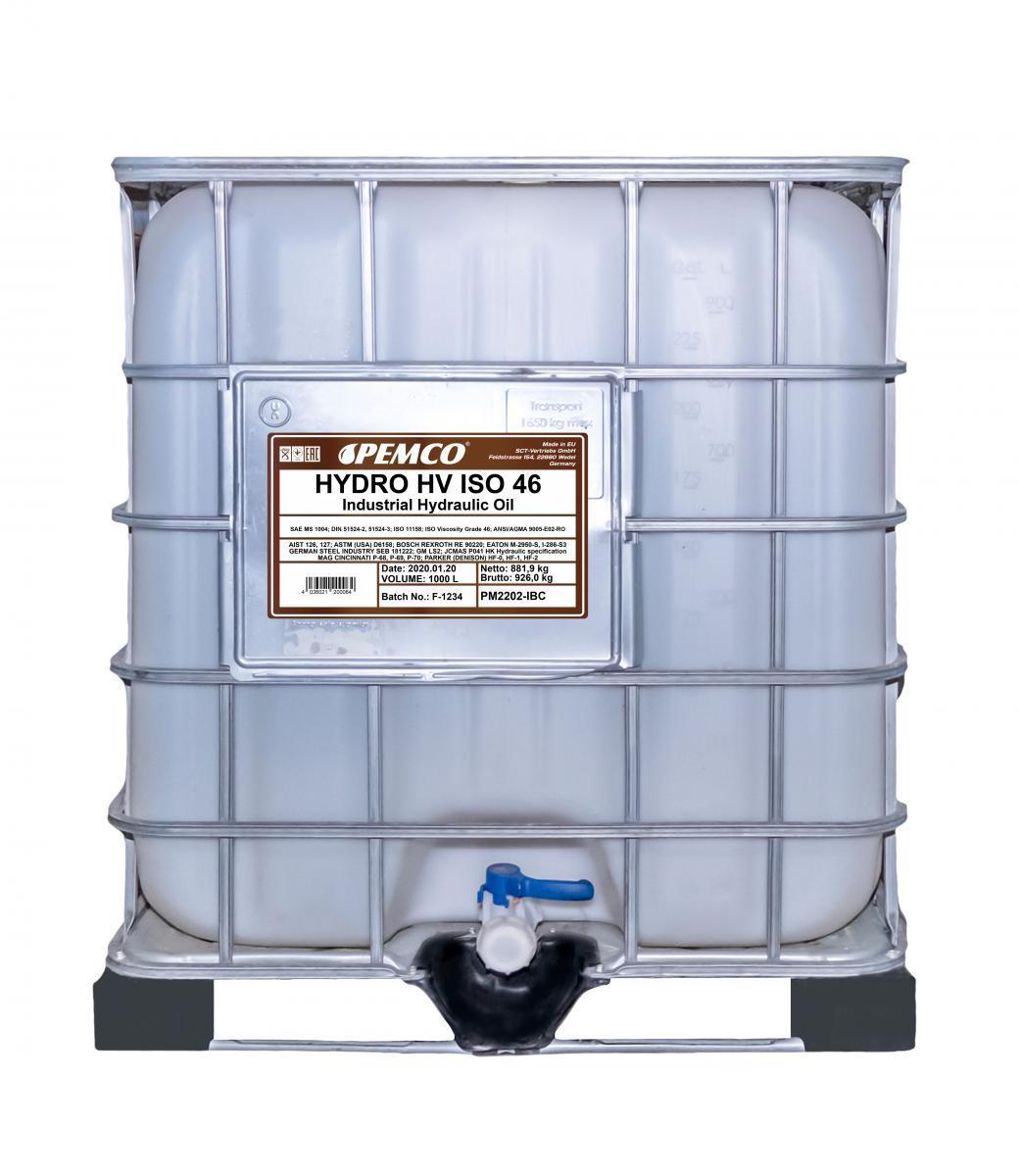 Achat de Huile hydraulique PEMCO PM2202-IBC camionnette