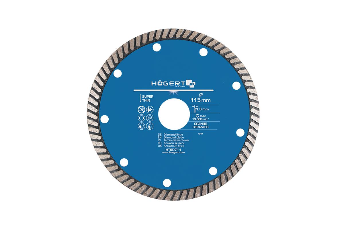 HT6D711 Hogert Technik Dicke/Stärke: 1.3mm, Drehzahl bis: 13.3001/min Trennscheibe, Winkelschleifer HT6D711 günstig kaufen