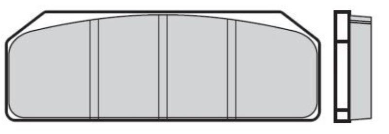 BREMBO Racing Zestaw klocków hamulcowych, hamulce tarczowe z przodu 07835424 SYM