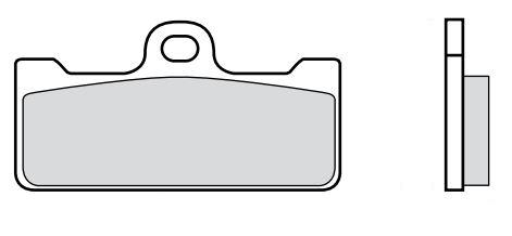 BREMBO Racing Zestaw klocków hamulcowych, hamulce tarczowe wyłącznie do zastosowań w sporcie M029Z04 SIMSON