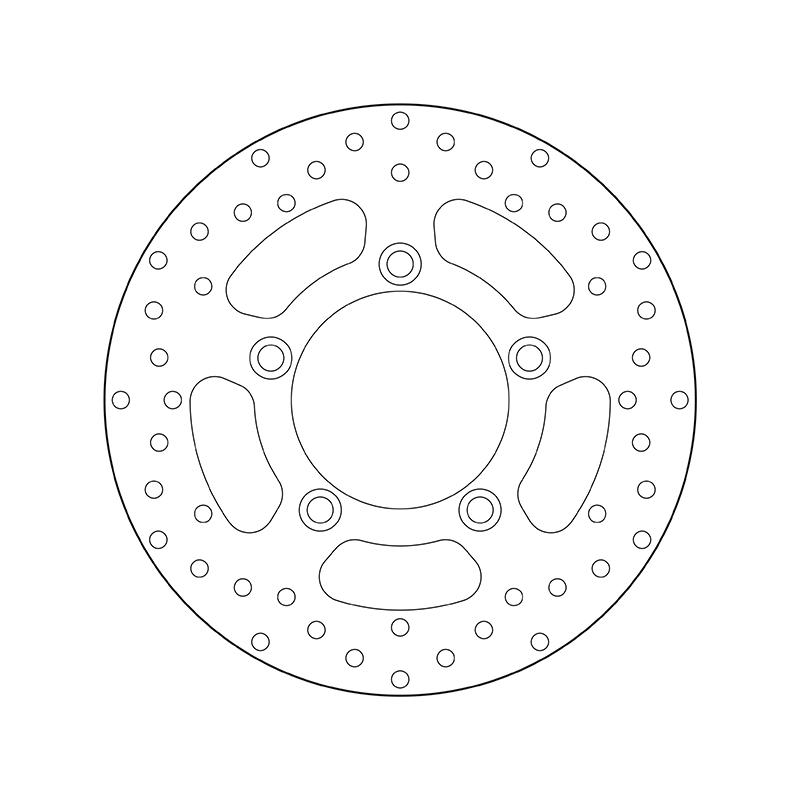 BREMBO Fixed , Serie Oro Tarcza hamulcowa z przodu i z tyłu 68B40795 KYMCO