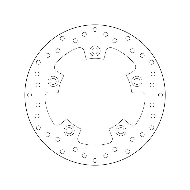 BREMBO Fixed , Serie Oro Bromsskiva Bak 68B40799 KYMCO