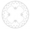 BREMBO Brake Disc Rear 68B407A4