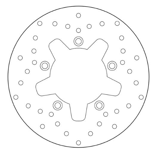 BREMBO Oro Fixed Disc Bromsskiva Fram 68B407E1 KYMCO