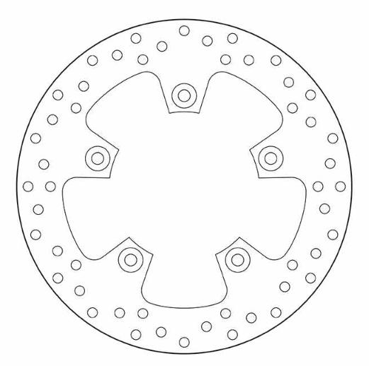 BREMBO Oro Fixed Disc Bromsskiva Bak 68B407F1 KTM