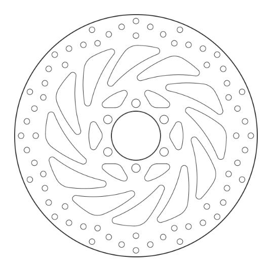 BREMBO Oro Fixed Disc Bromsskiva Fram 68B407P5 KTM