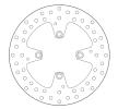 BREMBO Oro Fixed Disc Brake Disc Rear 68B407E8 DUCATI